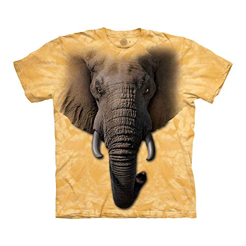 - The Mountain Elephant Face Adult T-Shirt, Yellow, Small