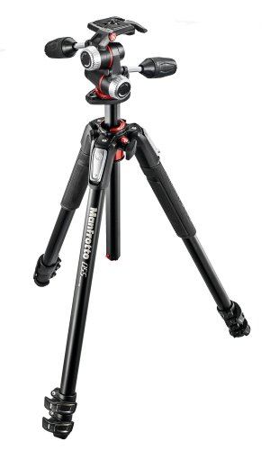 Manfrotto MK055XPRO3-3W 055 Kit Aluminium 3-Section Horizontal Column Tripod with 3-Way Head by Manfrotto