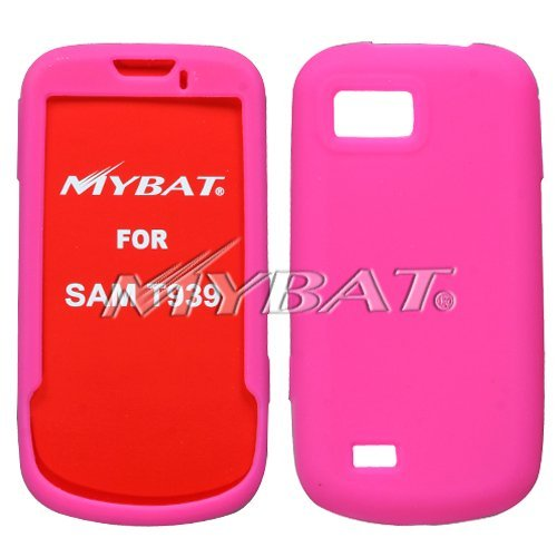 (Thin Silicone Skin Cover Case Hot Pink For Samsung Behold 2 T939)