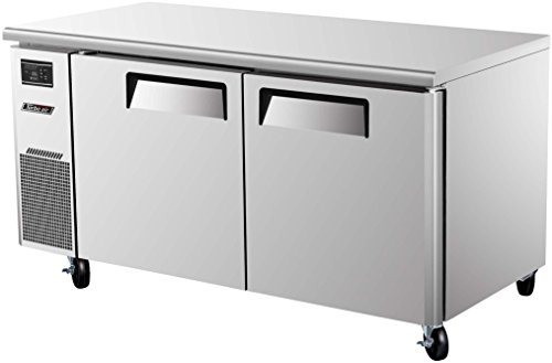 JUR60 15 cu. ft. J Series Undercounter Refrigerator with Efficient Refrigeration System Side Mount Compressor Adjustable Shelves and High Density PU Insulation: Stainless - Undercounter Commercial Refrigerator
