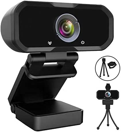 WEBCAM 1080P HD COMPUTER CAMERA – MICROPHONE LAPTOP USB PC WEBCAM WITH PRIVACY SHUTTER AND TRIPOD STAND, 110 DEGREE LIVE STREAMING WIDESCREEN RECORDING PRO VIDEO WEB CAMERA FOR CALLING, CONFERENCING