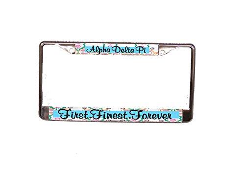 Alpha Delta Pi License Plate Frame (License Plate Delta Frame)