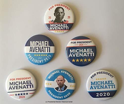 Michael Avenatti for President Campaign Buttons (AVENATTI-701-ALL)