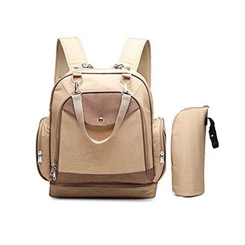 moaeuro multifunción bolso de mano y bolsa de bolsa de pañales bebé impermeable mochila con correas para el carrito, cambiador y mundo bolsa, mochila de viaje, bolsa de mamá, fácil de limpiar. rojo ro caqui