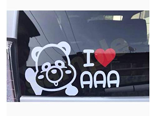 AAA aaa トリプルエー えパンダ ステッカー リアガラス 車 えーぱんだ