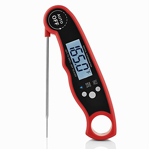 UPC 602573650998, Best Digital Waterproof Instant read meat Thermometer with probe for grilling - oven – smoker - BBQ – cooking food safely - Backlight and auto shut off feature – magnetic with stainless steel probe