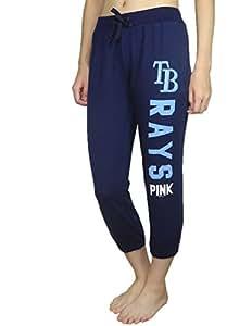 Pink Victoria's Secret Womens TAMPA BAY RAYS Lounge / Yoga Crop Pants S Dark Blue