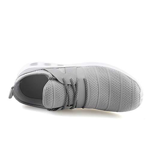 Sneakers Gym Marche Chaussures Gris Maille Lacets 1 En Athltique Wowei Casual Sport Course Hommes Entraneurs De Femmes Fitness RvnxwSO