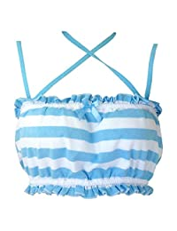 Joyralcos Japanese Striped Panties Bikini Cotton Anime Blue Pink Cosplay Underwear 2 Pack Briefs