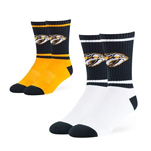OTS Adult Men's NHL Dasher Sport Sock 2-Pack, Team Color, Large ()