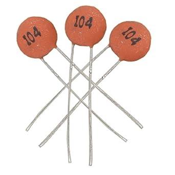 uxcell 50 x 100000pF 100nF 50V Low Voltage DIP Ceramic Disc Capacitors