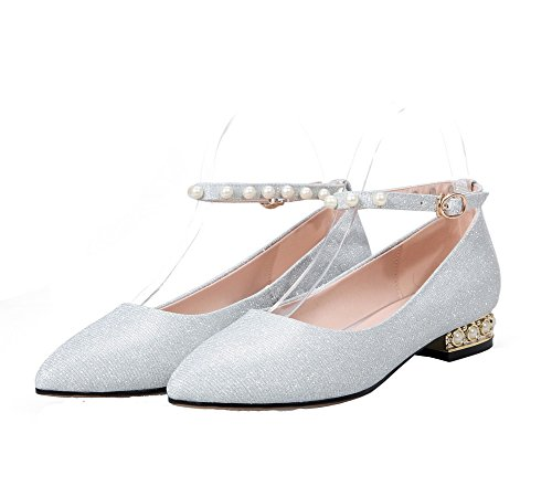 Materials Pumps Women's Closed Silver Low Odomolor Blend Shoes Heels Toe Solid Pointed qXnzA