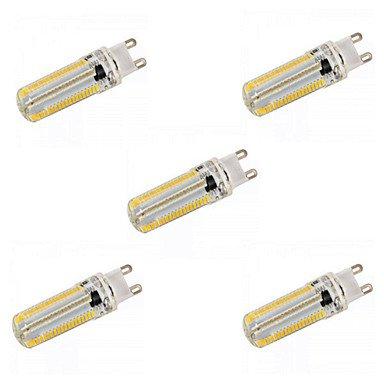 5pcs E14/G9/G4/E12/E17/E11/BA15D 12W 152x 3014SMD 1200LM Blanc chaud Blanc/Dimmable ampoules de maïs (AC 110V/AC 220V), G9 KUOSHAOYE