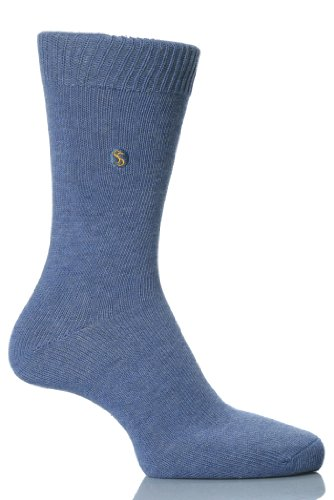 SockShop Women's 1 Pair Colour Burst Cotton Sock 6-10 Women's Denim ()