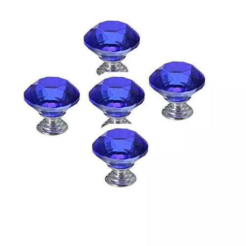 8 Pcs Crystal Glass Diamond Drawer Wardrobe Kitchen Cabinets Cupboard Door Pull Knobs - 5
