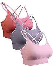 Sykooria sportbeha voor dames gevoerde beha Geen stalen ring met kruis terug ontwerp push-up bh sportbeha top voor yoga fitness
