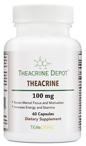 Theacrine (Teacrine) - Energy and Stamina Boosting Supplement - 100 Mg - 60 Capsules