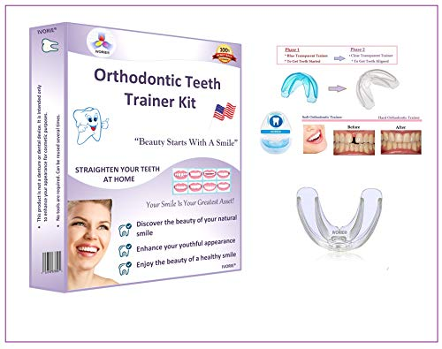 IVORIE Oral Tooth Orthodontic Alignment Trainer Appliance Mouthpiece 1pcs (Hard)