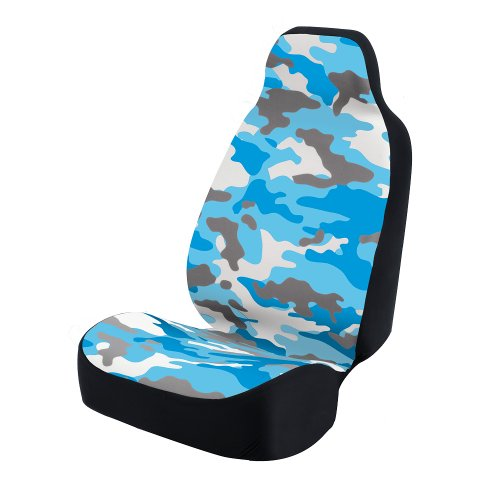 Coverking Universal Fit 50/50 Bucket Camo Fashion Print Seat Cover - Camo (Traditional Blue Cotton Candy)