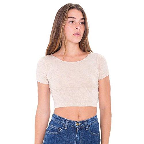 maniche Large T in Aa041 cotone lunghe americano d'avena Jabot rsa8380 pullover Heather Apertura colletto Farina velluto donna elastane shirt in a RZqwZOd