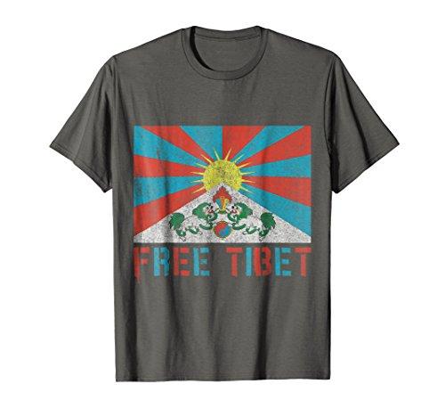 Tee Free Shirts (Mens Free Tibet T-Shirt XL Asphalt)