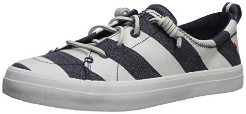 Sperry Top-Sider Womens Crest Vibe Breton Stripe Sneaker Navy/White