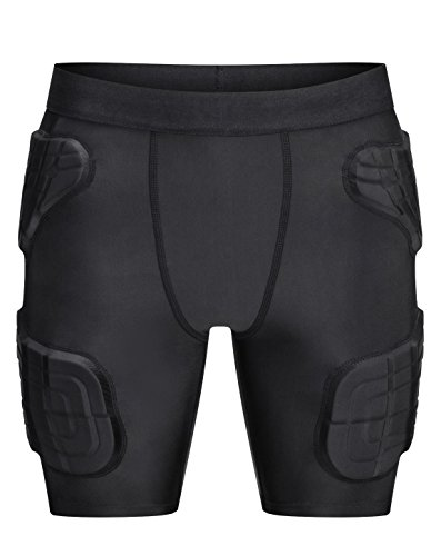 TUOYR Padded Shorts Young Boy Compression Shorts Pants Protective Gear Guard Pad Snowboard Ski Skiing Skating(Black, - Snowboarding Pant Field