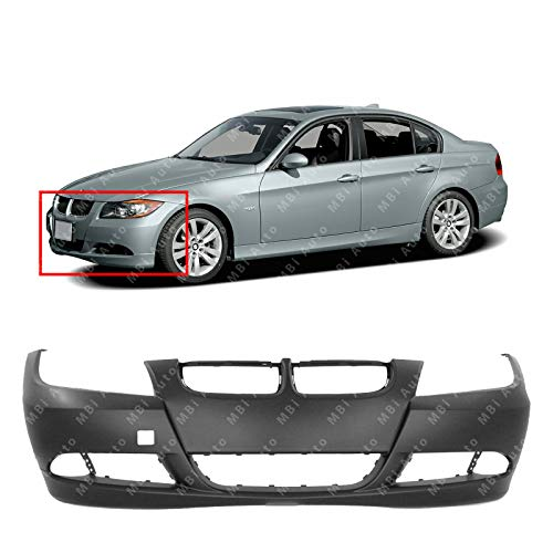 MBI AUTO - Primered, Front Bumper Cover Fasica for 2006 2007 2008 BMW 323 325 328 330 3-Series 06-08, ()
