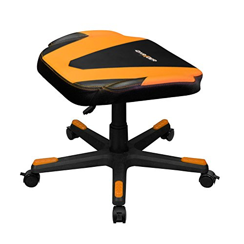 DXRacer DFR/FX0/NO Newedge Edition Adjustable Storage Ottoman Footstool Chair Gaming Seat Pouf Furniture (Black/Orange)
