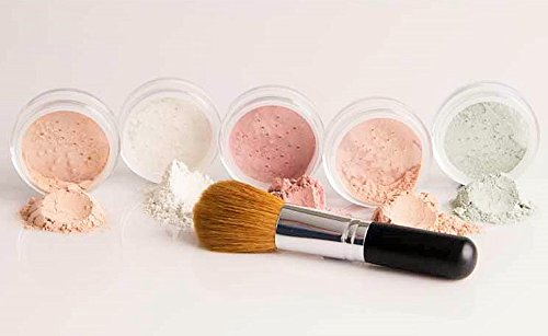 mineral-makeup-5-pc-kit-w-face-brush-foundation-set-full-size-sheer-powder-bare-skin-cover-pink-bisq
