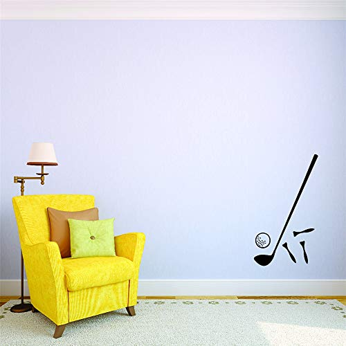 Quote Wall Decal Sticker Nursery Vinyl Saying Lettering Wall Art Inspirational Wall Decor Golf Ball Club Tee Equipment Accessories for Boys Girls Room