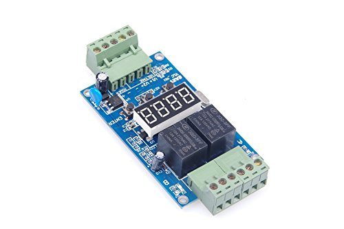 - KNACRO DC 24V 2-way programmable relay board/2-way voltage detection control/trigger/cycle timer turns off