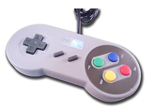 NovaTek Classic SNES USB Retro Gaming Controller for PC/Mac/RaspberryPi/Arcade (Street Fighter Nintendo Wii)