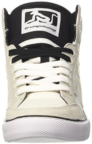 DrunknMunky Boston Classic, Zapatillas de Tenis para Hombre Bianco (White/Black)
