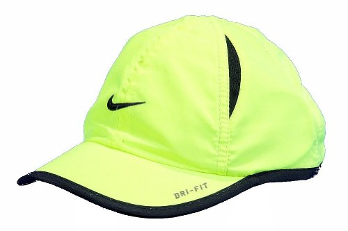 Logo Embroidered Baseball Cap - Nike Boys Dri-Fit Baseball Cap Embroidered Logo Hat (12/24 Months, Volt)