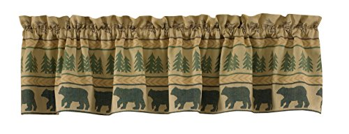 Park Designs Bear Tracks Lined Valance, 60 x 14
