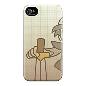 QvD1597erZN Tpu Case Skin Protector For Iphone 4/4s Paper Dungeons Male Warrior With Nice Appearance WANGJING JINDA