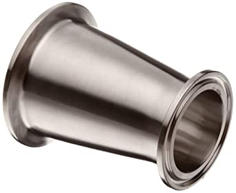 """Parker Sanitary Tube Fitting, Stainless Steel 304, Concentric Reducer, 2"""" Tube OD x 1-1/2"""" Tube OD"""