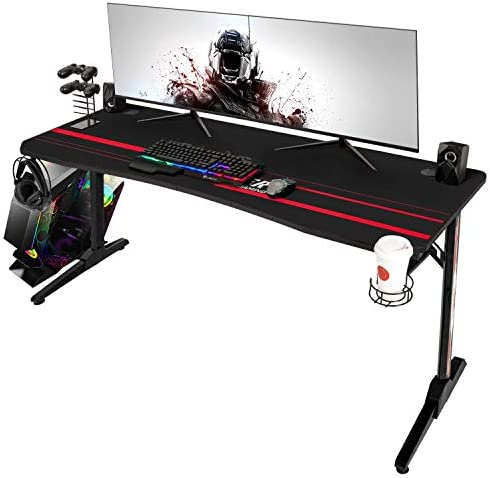 Devoko 55 Inch Gaming Desk Racing Style Computer Desk Free Mouse pad