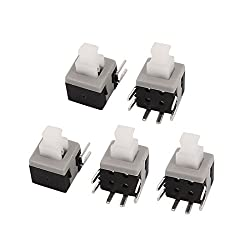 uxcell 5Pcs 5.8mmx5.8mm Panel PCB Momentary Tactile Tact Push Button Switch 6 Pin DIP
