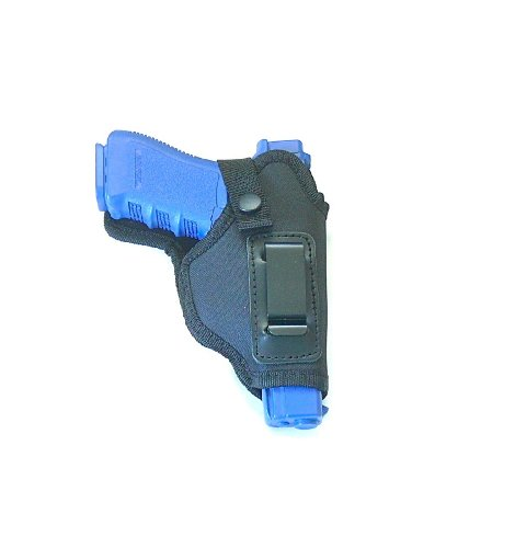 Body Tab Inside the Pants Pistol Holster for Medium to Large Semi-autos, Glock 17, Ruger, Kimber, Colt 1911 & Browing Hi-power