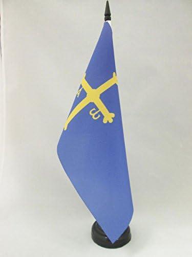 AZ FLAG Bandera de Mesa del PRINCIPADO DE Asturias 21x14cm ...