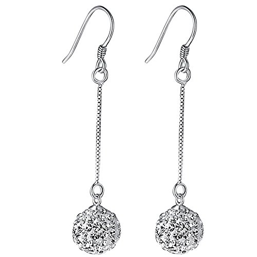Acxico Sterling Crystal Pendant Earrings product image