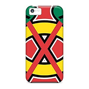 Slim Fit Tpu Protector Shock Absorbent Bumper Chicago Blackhawks Case For Iphone 5c