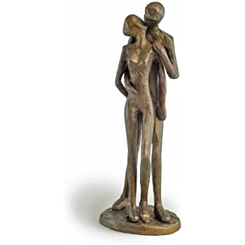 Danya B. ZD11075 Contemporary Sand-Casted Bronze Anniversary/Wedding/Engagement/Romance Sculpture - Couple Kissing