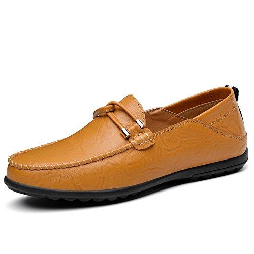 EU shoes resbalón Amarillo 2018 mocasín en tamaño Cuero Ocio sólido Hombre de 47 Minimalism 37 de para Color Zapatos Shufang Hombres tamaño Color de Mocasines los Mocasines hasta el fXvwZdfnq4