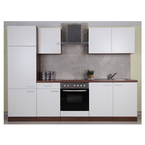 Küchenzeilen weiß  Mebasa CUCINAB270NW Küche, Moderne Küchenzeile, hochwertige ...