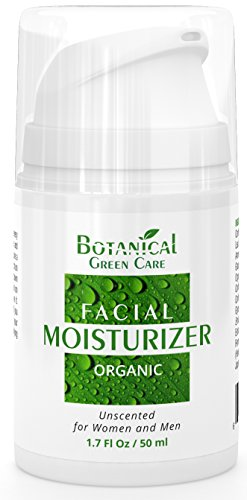 Facial Moisturizer. Preservative Free. Organic & 100% Natural Face Moisturizing Cream for Sensitive, Dry & Normal Skin - Anti-Aging and Anti-Wrinkle, for Women and Men. NEW 2018 FORMULA!
