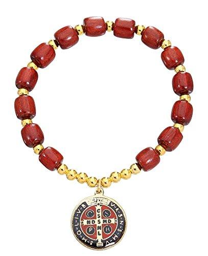 Saint Benedict Cherry Stretch Bracelet product image