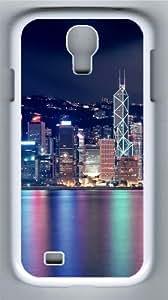 Hong Kong Skyscrapers Custom Samsung Galaxy I9500/Samsung Galaxy S4 Case Cover Polycarbonate White